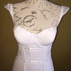 Guess Crochet Bustier Dress